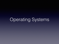 Operating Systems Handout